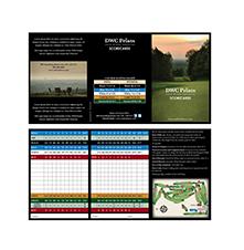 custom golf scorecards
